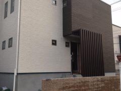 長住4丁目【Y様邸】 建築リポートNo7           【外構サイディング・内装壁下地】
