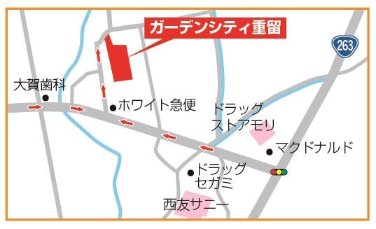 ガーデンシティ重留 地図拡大-01@