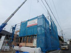 福岡 注文住宅 樋井川 建築リポート3  棟上げ1